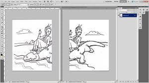 tutorial digitally coloring a hand drawn line drawing in