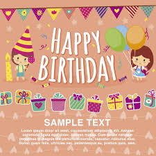 happy birthday card template vector free