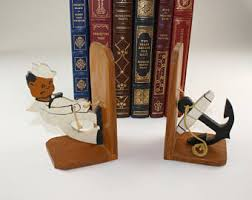 unique bookends for sale anchor bookends etsy