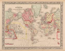 Usa Map 1860 by Historic World Map 1860 Samuel Augustus Mitchell