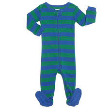 leveret footed striped baby boy pajama sleeper 100