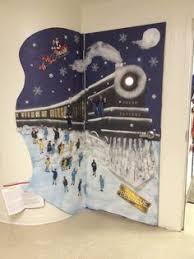 polar express classroom door ideas bulletin board