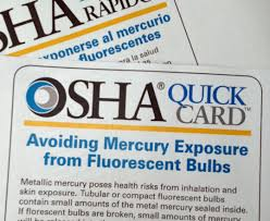 how to clean up mercury spill from fluorescent light osha