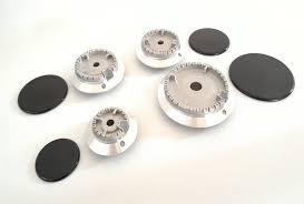 ricambi piano cottura bruciatori e piattelli serie bruciatori in alluminio diamantato