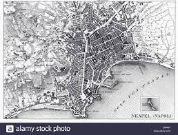 Naples Italy Map Engraved Illustrations Of The Map Of Naples Italy From