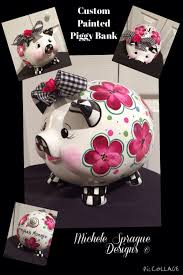 customized piggy bank buy a handmade custom painted piggy bank ceramic piggy bank