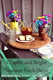 Summer Porch Decor by Serendipity Refined Blog Bright And Graphic Porch Decorating