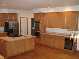 Double Wall Oven Cabinet Kitchen Floor Medium Brown Cabinets Stainless Steel Stove Top