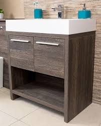 moscow 750 floor standing bathroom vanity unit dark wood