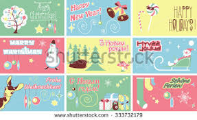 bow tie merry and happy new year vector cards