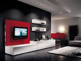 living room ideas black and red orange bird black chairs white
