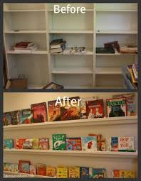 Vinyl Rain Gutter Bookshelves - 20 best creative uses for repurposed used gutters images on