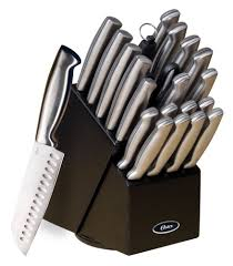 brand new oster baldwyn 22pc stainless steel chef knife set combo