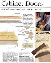 cabinet door router jig making arched cabinet doors woodarchivist