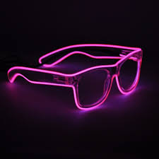 party sunglasses with lights light up neon el wire rave glow led sunglasses light costumes