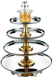 4 tier buffet revolving stand stainless steel cookwares for seafood
