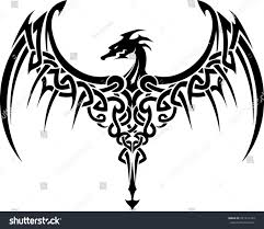 celtic dragon wings tattoo stock vector 231311164 shutterstock