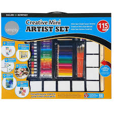 childrens creative mini artist set 115 piece