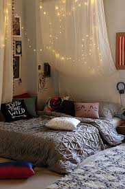 Bed Canopy With Lights How You Can Use String Lights To Make Your Bedroom Look Dreamy