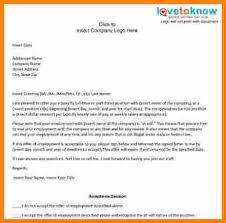 10 offer of employment letter template free ledger paper