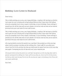 love letter to my wife