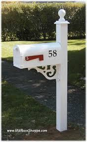 brentwood aluminum mailbox post