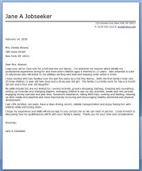 Resume Of Nanny Nanny Housekeeper Cover Letter