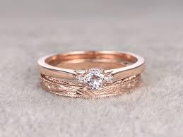 gold wedding sets morganite diamond gold wedding set plain gold ring 0 5 carat