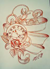 pocket watch tattoo design by sukis brain artwork on deviantart