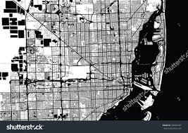 Map Of Miami Florida Vector City Map Miami Florida Stock Vector 580940185 Shutterstock