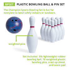amazon com weighted bowling set bowling equipment sets