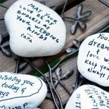 wedding wishing stones alternative guest book ideas