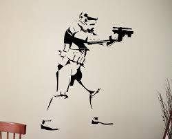 wall decals stickers home decor home furniture diy star wars wall decal stormtrooper vinyl sticker movie art bedroom decor 12ewsx
