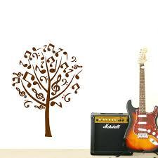 Music Note Home Decor Wall Ideas Dctop German Music Guitar Wall Sticker Black