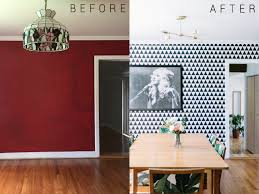 dining room wallpaper before and after dining room hey wanderer