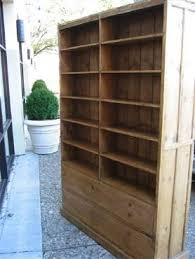 Double Bookcase Vintage Pine Double Sided Bookcase Mecox Gardens