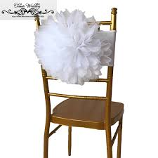 chiavari chair for sale 10 pcs hot sale white organza flower chair band chiavari chair
