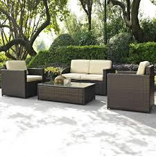 Hayneedle Patio Furniture Crosley Palm Harbor 4 Piece Outdoor Wicker Seating Set Hayneedle