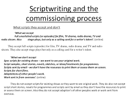 scriptwriting and commissioning process by james picken