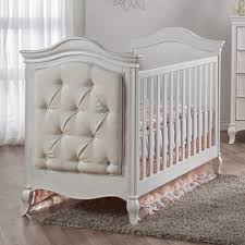Young America Convertible Crib by Pali Diamante Classic White Baby Crib Upholstered Crib