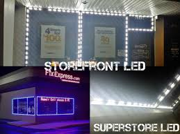storefront led lights installed led modules led
