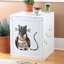 Kitty Litter Bench Cat Hooded Litter Boxes Ebay