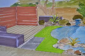 jardin paysager avec piscine design extérieur d u0027un petit jardin var avec mini piscine