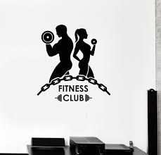 2017 new fitness vinyl wall decal fitness club bodybuilding gym
