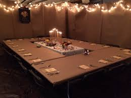 menu ideas for thanksgiving dinner great idea for large dinner party in the garage cool party ideas