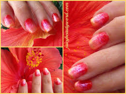 the juicy beauty word hibiscus ombre nail design