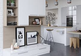 Modern Kitchen Wall Cabinets Zola Gloss Contemporary White Light Grey Kitchen Stori