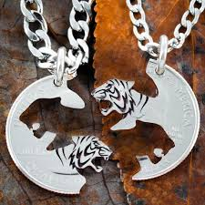 silver best friend necklace images Tiger best friend necklace set interlocking tigers namecoins jpg