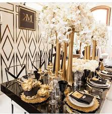 black and gold centerpieces for tables black and gold reception table layout lavish and opulent castle