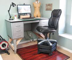 Standing Desk With Drawers by Furniture Gray Standing Desk With 6 Drawers And Extra Comfortable